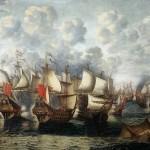 Eerste_fase_van_de_Zeeslag_in_de_Sont_-_First_phase_of_the_Battle_of_the_Sound_-_November_8_1658_(Jan_Abrahamsz_Beerstraten,_1660)